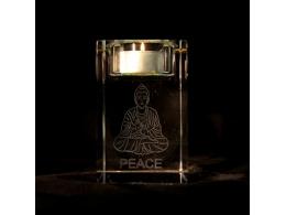 Feng Shui - Buddha klaastahukas - teeküünlaalus - VIIMANE - SÜGISENE ALLAHINDLUS
